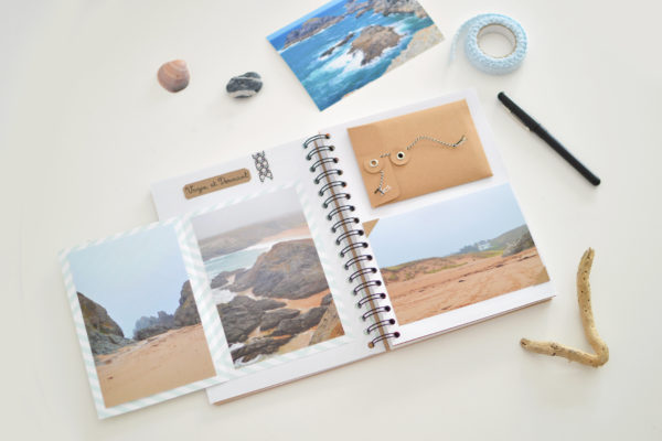 Boîte à souvenirs et album photos